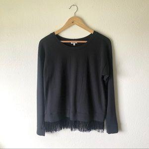 Splendid Tracy Reese sweatshirt with fringe detail
